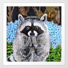 Mischief the Raccoon Art Print