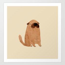 Brown Doggy Art Print