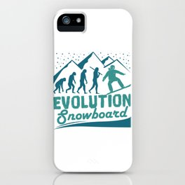 Evolution Snowboard iPhone Case
