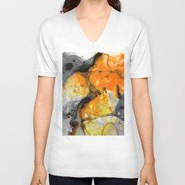 Orange Abstract Art - Light Walk - By Sharon Cummings Unisex V-Neck