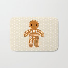 SWEATER PATTERN GINGERBREAD COOKIE Bath Mat
