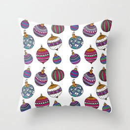 Christmas ornaments Throw Pillow