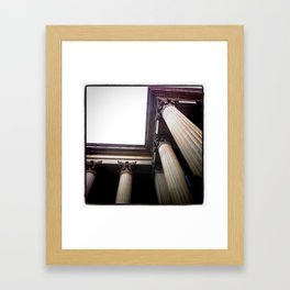 Columns Framed Art Print