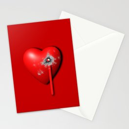 Heart Series Love Bullet Holes Love Valentine Anniversary Birthday Romance Sexy Red Hearts Valentine Stationery Cards
