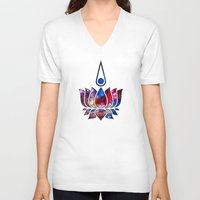 lotus V-neck T-shirts featuring Lotus by Spooky Dooky