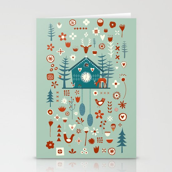 Cuckoo Clock Stationery Cards