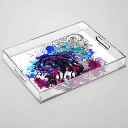 Purple Lion Spirit Acrylic Tray