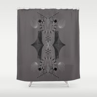 spiritual Shower Curtains featuring Spiritual geo by FakeFred