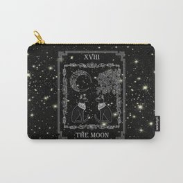 """Tarot """"The Moon"""" - silver- cat version Carry-All Pouch"""