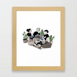 Book Club Framed Art Print