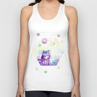space cat Tank Tops featuring Space Cat! by Colorful Simone