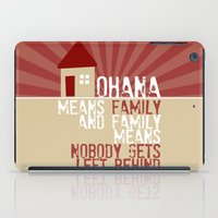 lilo and stitch iPad Cases featuring Ohana Means Family - Lilo & Stitch by Crafts and Dogs