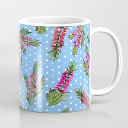 Beautiful Australian Bottlebrush Pattern Coffee Mug
