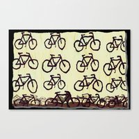 bicycles Canvas Prints featuring Bicycles by Art & Fantasy by LoRo