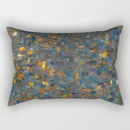 Abstract Shinny Mosaic Pattern Rectangular Pillow