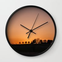 maryland Wall Clocks featuring Maryland Sunset by Josh Lohmeyer