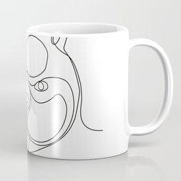 French Bulldog Head Continuous Line Coffee Mug