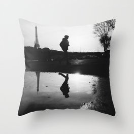 Reflections of Paris Throw Pillow