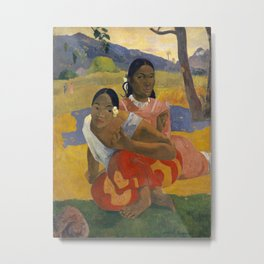 Paul Gauguin - When Will You Marry? Metal Print