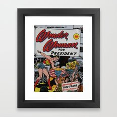 Comic Number 7 Framed Art Print