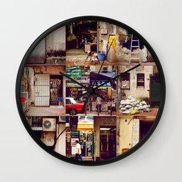 Doors of Hong Kong Wall Clock
