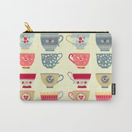 Tea Cups Carry-All Pouch