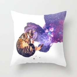 Catstronaut Throw Pillow