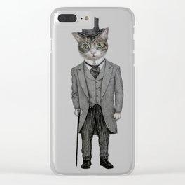 Mr.cat Clear iPhone Case