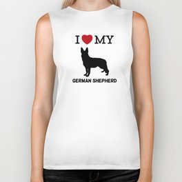 I Love my German Shepherd Design Biker Tank