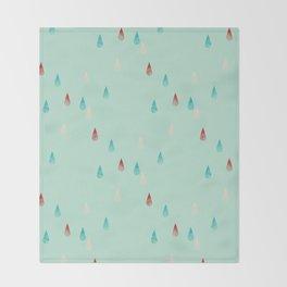 Raindrop Repeat Throw Blanket