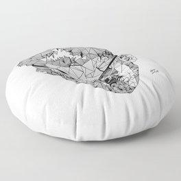 James Joyce - Hand-drawn Geometric Art Print Floor Pillow