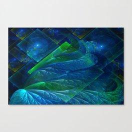 Sea Glass 3D Flame Fractal Canvas Print