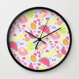 Water colour fruit salad Wall Clock