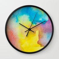 heaven Wall Clocks featuring Heaven by elena + stephann