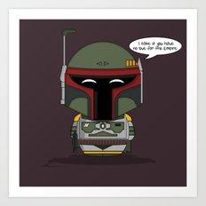 ChibizPop: No love for the Empire! Art Print