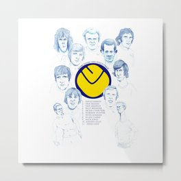 LEEDS UNITED 1972 Metal Print