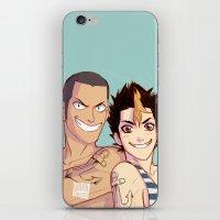 johannathemad iPhone & iPod Skins featuring anchor bros by JohannaTheMad