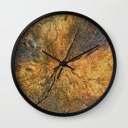 Industrial Urban Slice of Reclaimed Wood Wall Clock