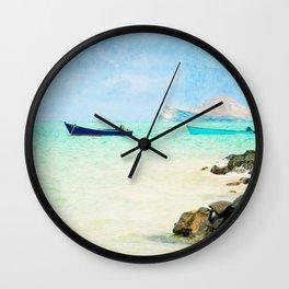 Lanikai Point (Windward side of Oahu) Wall Clock