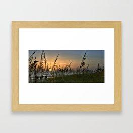 Sunset on Anna Mara Island Framed Art Print