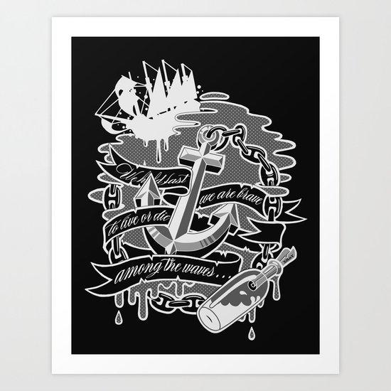 """""""Among the Waves"""" Art Print"""