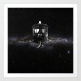 TARDIS DOCTOR WHO SPACE Art Print