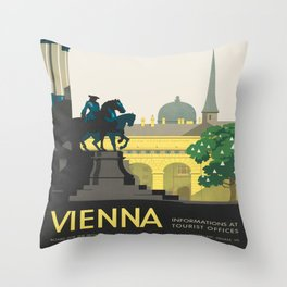 Vintage poster - Vienna Throw Pillow