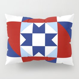 Red White and Blue Quilt Pattern Pillow Sham