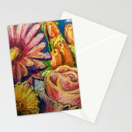 Floral Pastel Painting Stationery Cards
