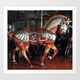 The Armored Horse Art Print