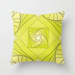 green rombus 1 abstraction Throw Pillow