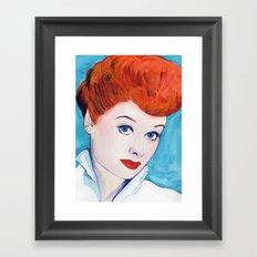 Lucy, I love Framed Art Print