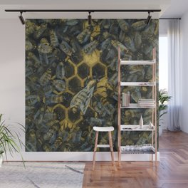 The Golden Hive Wall Mural