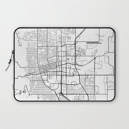 Boulder Map, USA - Black and White Laptop Sleeve